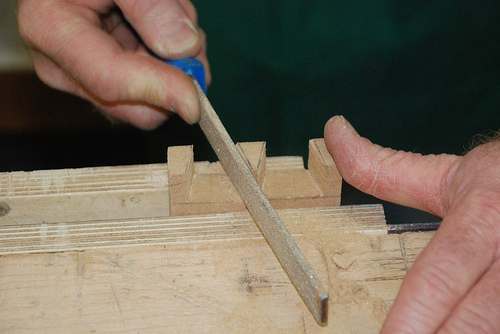 Common woodworking frame and box joints